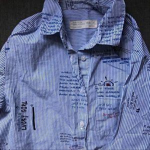 Zara Girls casual collection button top Size 5